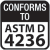 Conforms to ASTM D 4236
